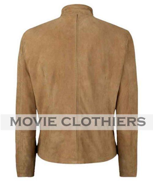 daniel craig speccre suede james bond brown leather jacket