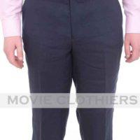 navy blue james bond linen suit