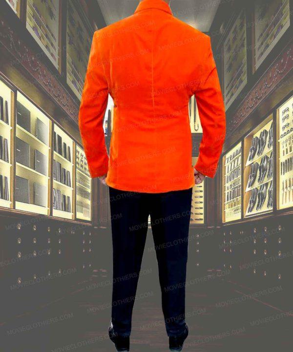 taron egerton velvet kingsman 2 orange jacket