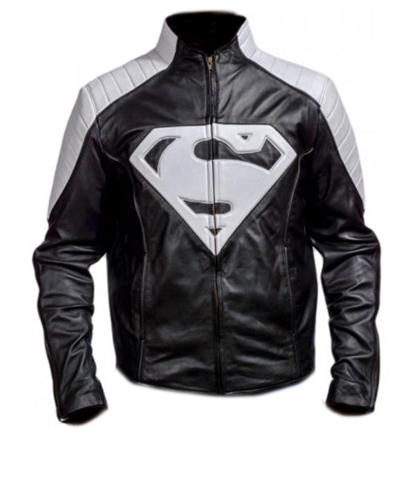 Black superman motorcycle jacket