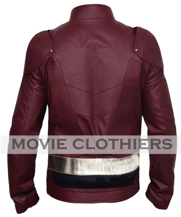 Ezra Miller Jusice league Flash leather jacket