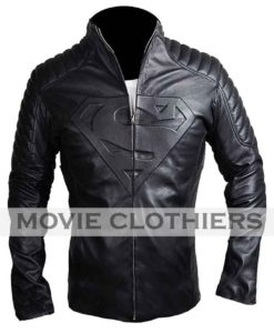 Tom Welling Smallville black superman jacket