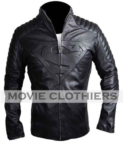 Tom Welling Smallville black superman jacket