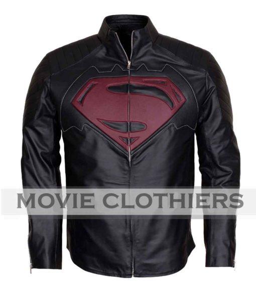 batman vs superman leather jacket