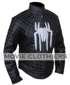 black spiderman jacket