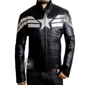 captain america biker jacket