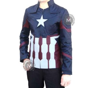 captain america faux leather jacket