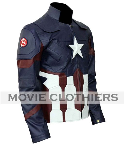 captain america leather jacket avengers