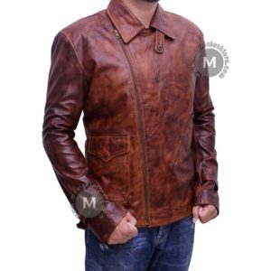 captain america leather jacket brown