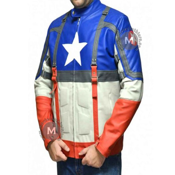 captain america leather jacket costume