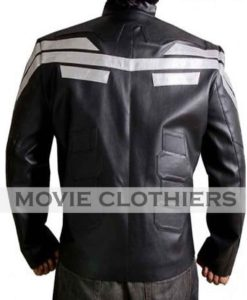 captain america motorcycle jacket black