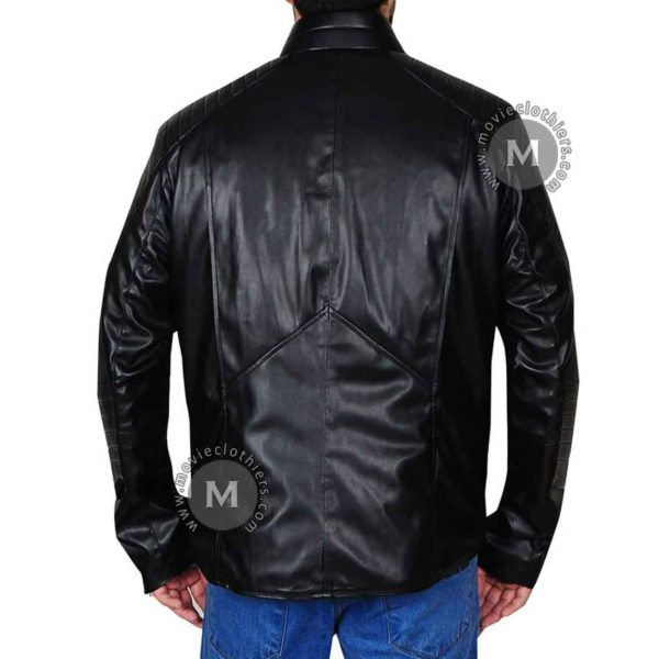 dc comics batman black leather jacket