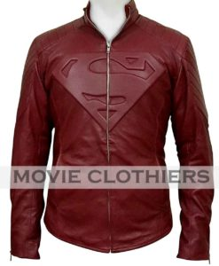 red leather smallville superman jacket