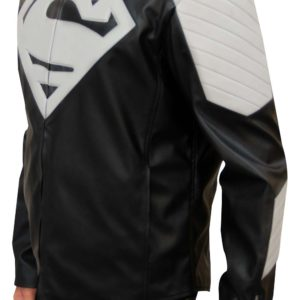 superman biker jacket