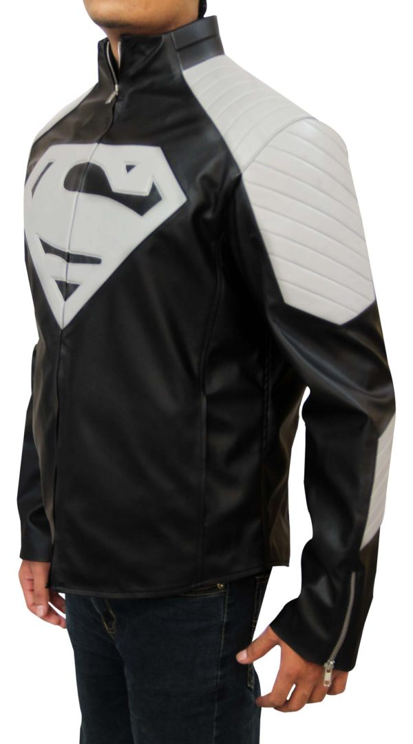 superman biker jacket