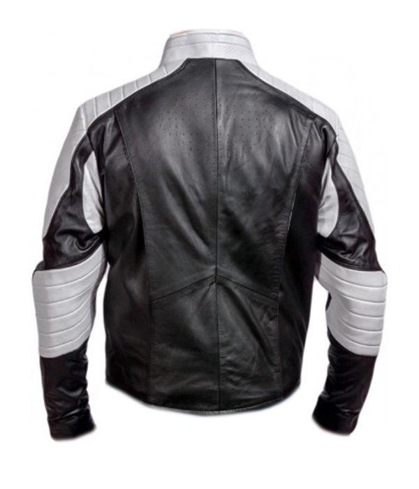 superman leather motorcycle jacket