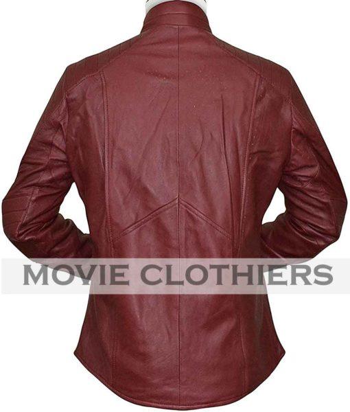 superman smallville maroon black leather jacket