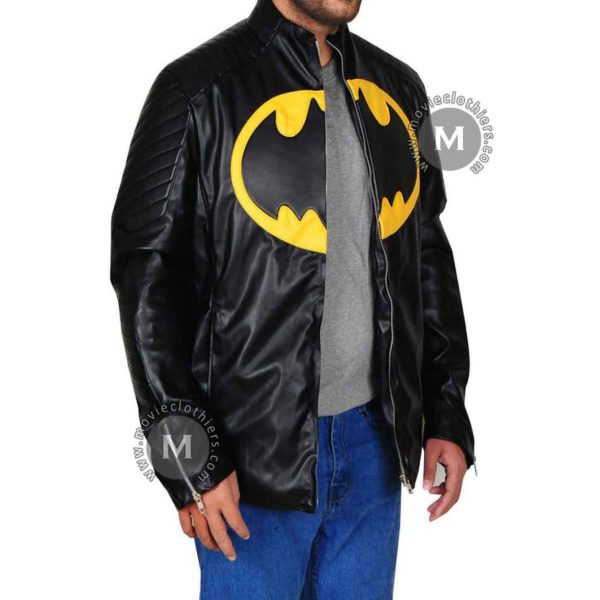 yellow black batman jacket