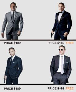 james bond suits offer
