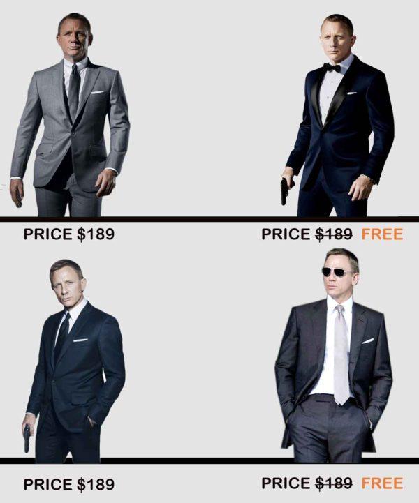 james bond suits offer