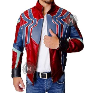 Peter Parker Infinity war leather jacket