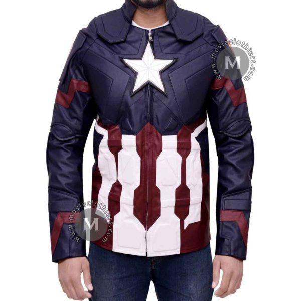 captain america avengers leather jacket