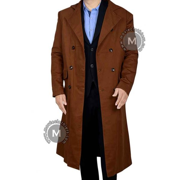 brown doctor who trench coat