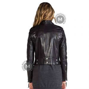 Bella Thorne Punk Black Leather Jacket