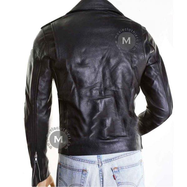 justin bieber black leather jacket