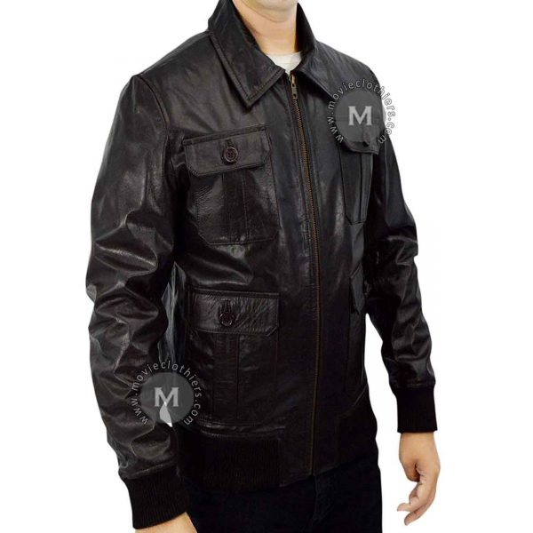 taylor lautner leather jacket