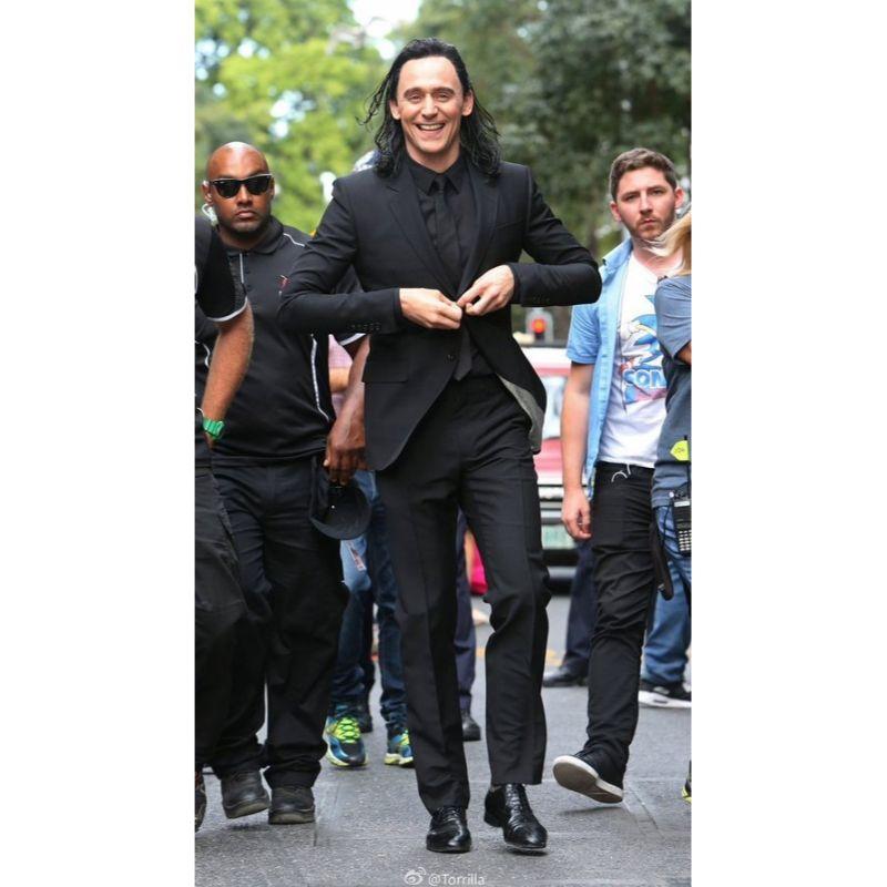 Tom Hiddleston Thor Ragnarok Three Piece Black Suit