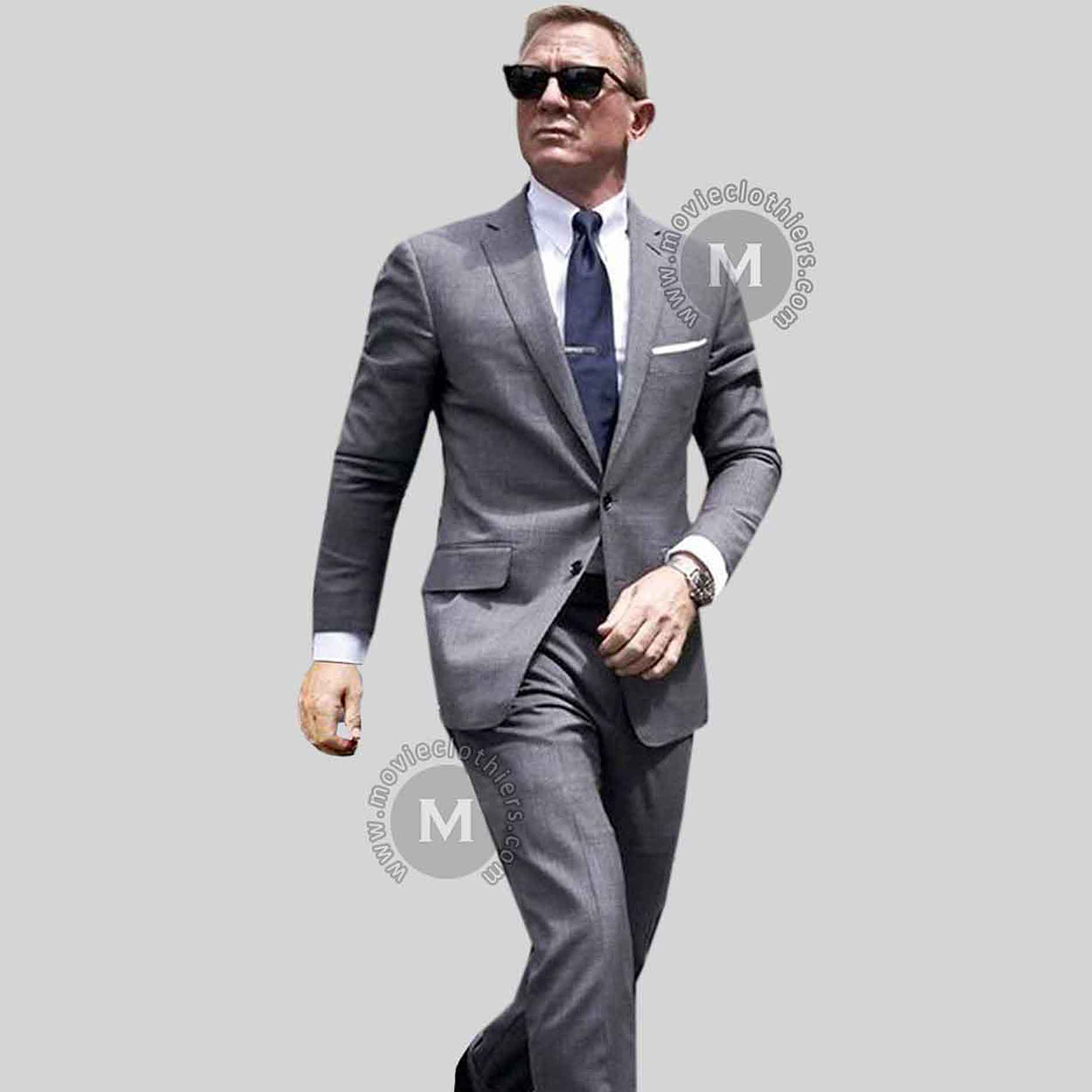 James Bond 25 No Time To Die Grey Suit