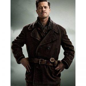 Brad Pitt Inglourious Basterds Leather Jacket