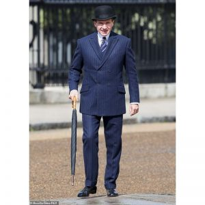 The King's Man 3 Ralph Fiennes Blue Suit