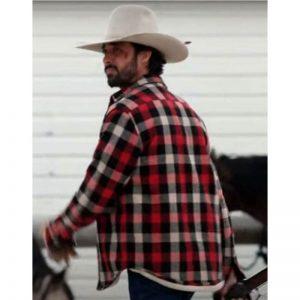 Yellowstone S03 Ryan Bingham Red Plaid Jacket